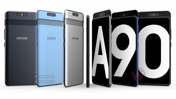 Samsung Galaxy A90 åker fast