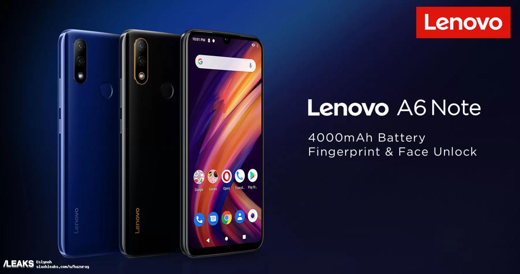 Lenovo A6 Note läcker ut