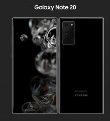 Novo concepto no Samsung Galaxy Note 20