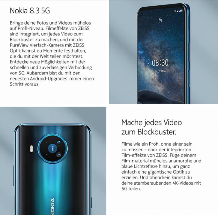 HMD Global kommer börja sälja Nokia 8.3 inom kort i Tyskland