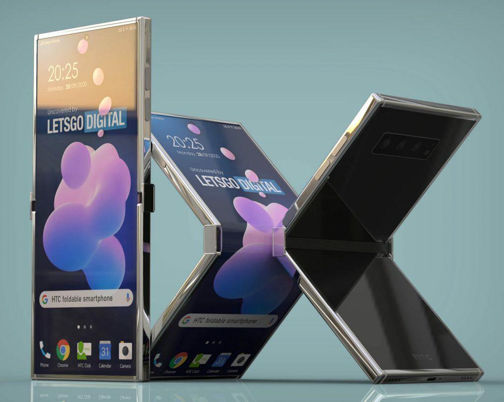 Så här kan en vikbar smartphone från HTC se ut