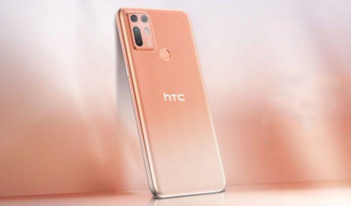 HTC Desire 20 Plus uppvisad med tre kameror på baksidan