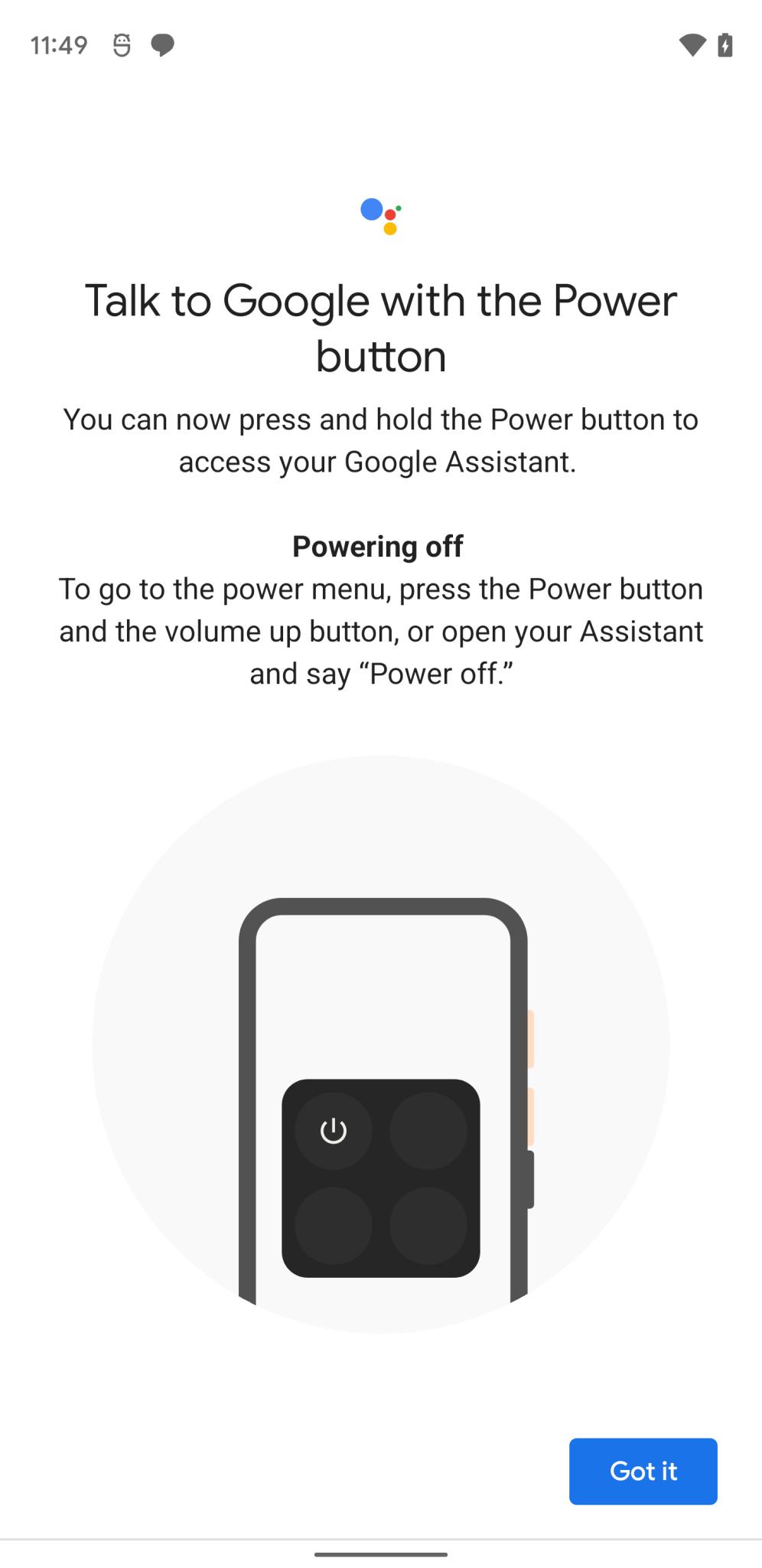 Snart kan du stänga av din enhet med Google Assistent