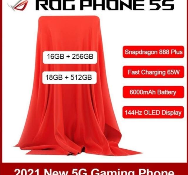 Rykte: ASUS ROG Phone 5S på ingång med Snapdragon 888 Plus