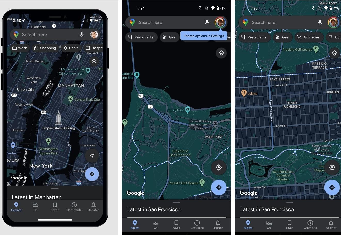 Google Maps kommer officiellt få stöd för Dark Mode för iOS den här månaden