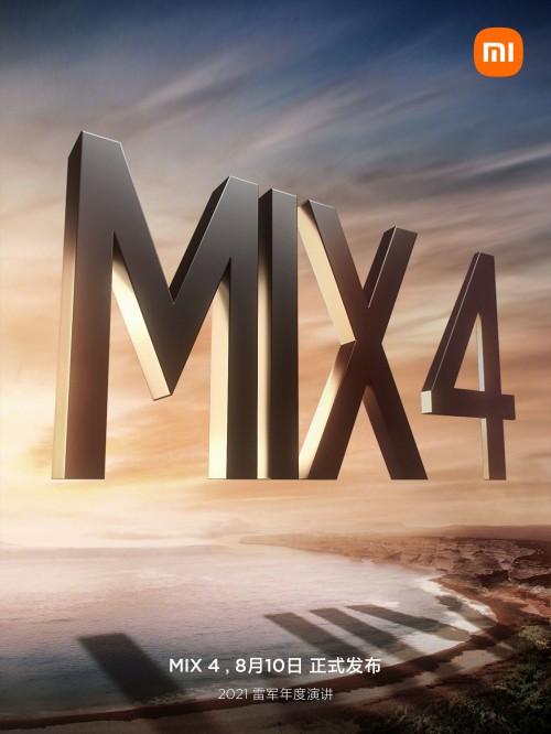 Xiaomi Mi Mix 4 kommer visas upp 10 augusti