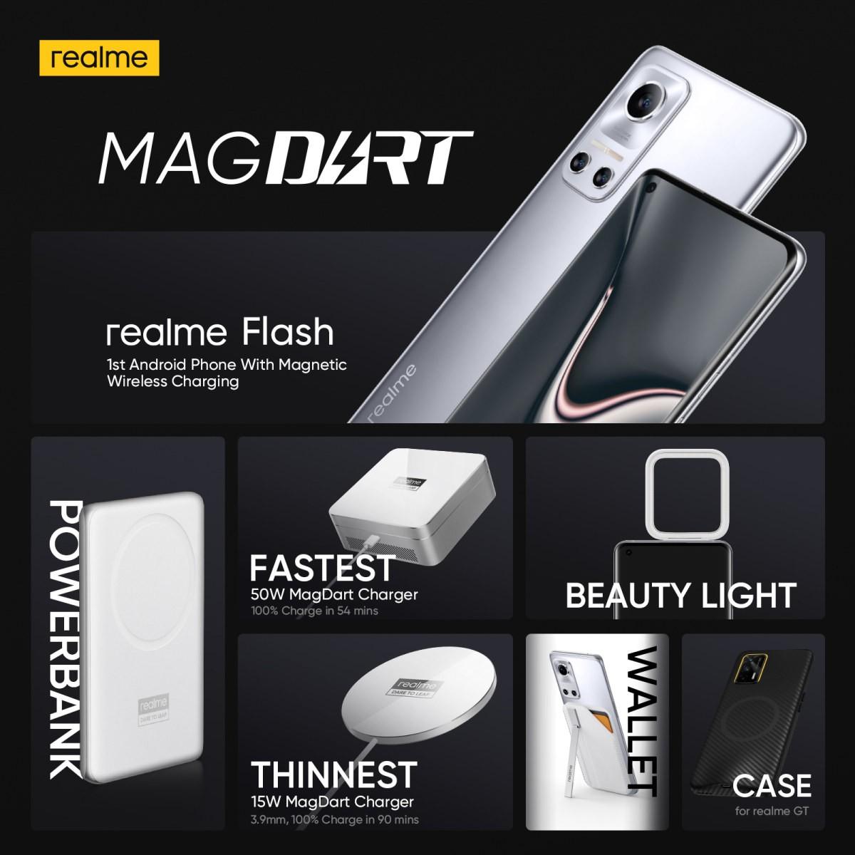 Realme offentliggör MagDart, är magnetisk laddning