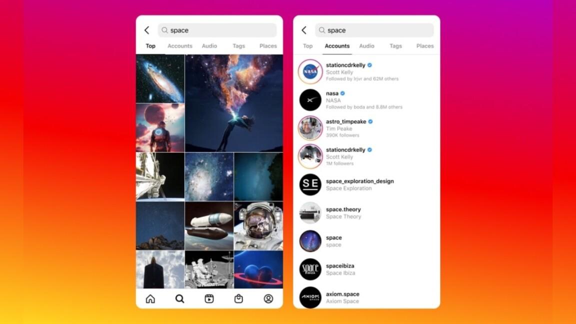 Instagram jobbar på ny funktion för sök