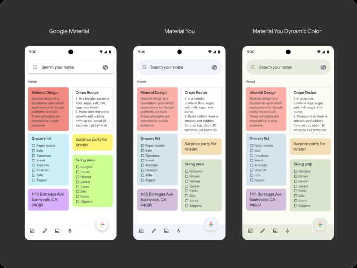 21 september släpps nya versionen av Google Keep med Material You design
