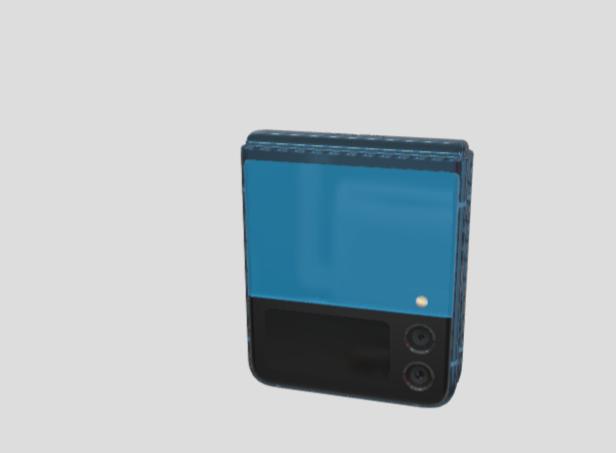 Blå version av Samsung Galaxy Z Flip 3 ser ut att vara på ingång