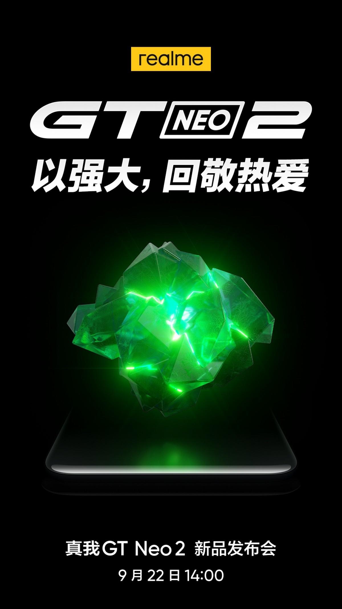 Realme GT Neo2 kommer visas upp 22 september
