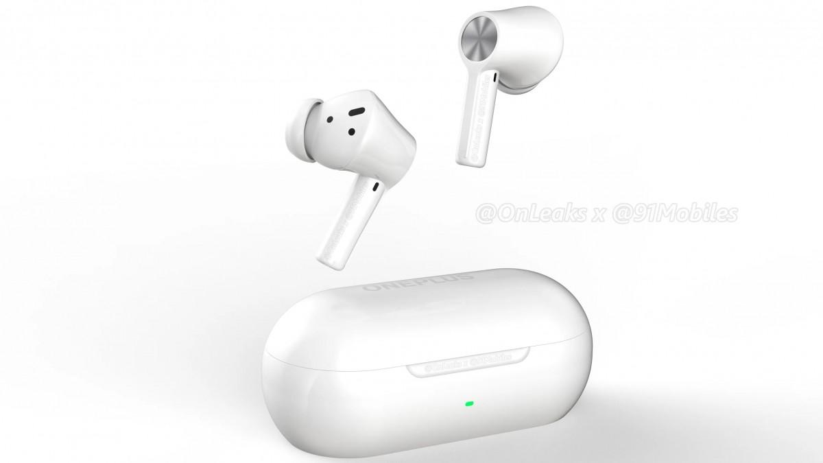 OnePlus Buds Z2 kommer nästa månad, renderingar visar hur de kommer se ut